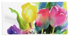 Tulip Pot Beach Sheet