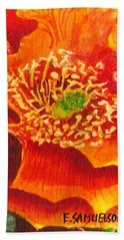Tulip Prickly Pear Beach Towel by Eric Samuelson