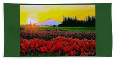 Tulip Sunrise Beach Towel