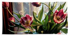 Tulips And Lace Beach Towel