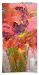Tulips And Poppies Beach Sheet