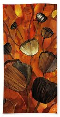 Tulips And Violins Beach Towel by Sarah Loft