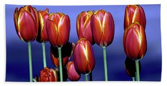 Tulips At Attention Beach Towel