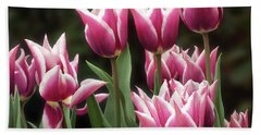 Tulips Bed  Beach Sheet