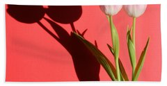 Tulips Casting Shadows Beach Towel