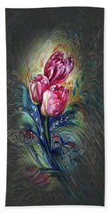 Tulips Fantasy Beach Towel