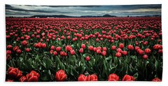 Tulips Forever Beach Sheet
