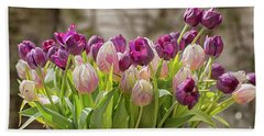 Beach Towel featuring the photograph Tulips In A Bucket by Patricia Hofmeester