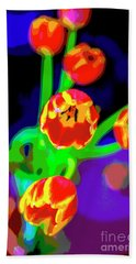 Tulips In Abstract Beach Sheet