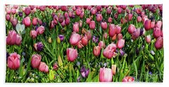 Beach Towel featuring the photograph Tulips In Bloom by D Davila