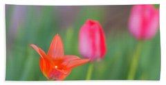 Tulips In My Garden Beach Sheet