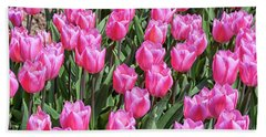 Beach Towel featuring the photograph Tulips In Pink Color by Patricia Hofmeester