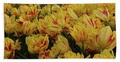 Tulips In The Garden Tulips In The Park  Beach Sheet