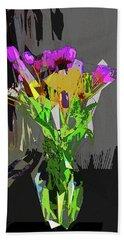 Tulips In Vase Cubed Beach Towel by David Pantuso