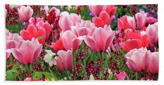 Beach Towel featuring the photograph Tulips by James Eddy