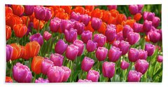 Beach Towel featuring the photograph Tulips Mean Spring by Mary Jo Allen