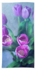 Tulips Study #1 Beach Sheet