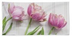 Beach Sheet featuring the photograph Tulips Three by Kim Hojnacki