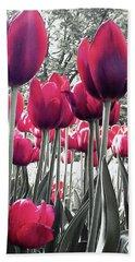 Tulips Tinted Beach Towel