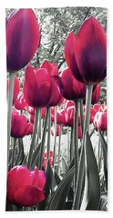 Tulips Tinted Beach Towel