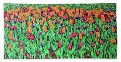Tulips Tulips Everywhere Beach Towel