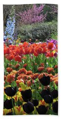 Tulips, Tulips, Tulips And More Beach Towel