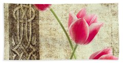 Tulips Vintage  Beach Towel