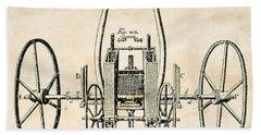 Tull: Seed Drill, 1701 Beach Towel