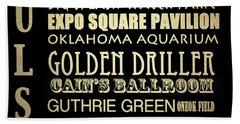 Tulsa Oklahoma Famous Landmarks Beach Sheet