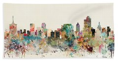 Tulsa Skyline Beach Towel