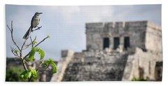 Tulum Mayan Ruins Beach Sheet
