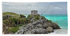 Tulum Mexico Beach Towel