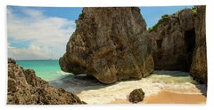 Tulum Scene II Beach Sheet