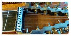 Tuning Pegs On Sho-bud Pedal Steel Guitar Beach Towel