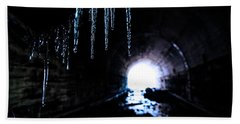 Tunnel Icicles 2 Beach Towel