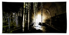Tunnel Icicles Beach Towel