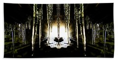 Tunnel Icicles Reflection Beach Towel