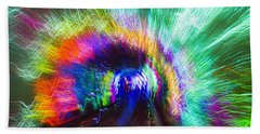 Beach Towel featuring the photograph Tunnel Lights by Angela DeFrias