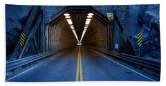 Tunnel Near Ential Washington Beach Towel