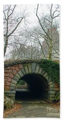 Tunnel On Pathway Beach Towel by Sandy Moulder