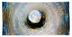 Tunnel To The Moon Beach Sheet