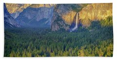 Tunnel View At Sunset Beach Towel by Rick Berk