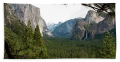 Tunnel View Framed Beach Towel