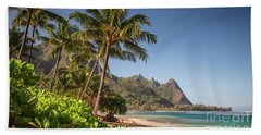 Tunnels Beach Haena Kauai Hawaii Bali Hai Beach Towel