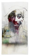 Tupac Graffitti 2656 Beach Towel by Jani Heinonen