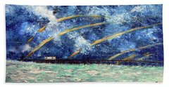 Turbulence At The Nj Shore Beach Towel