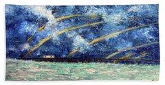 Turbulence At  Nj Shore Beach Sheet