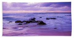 Turbulent Daybreak Seascape Beach Towel