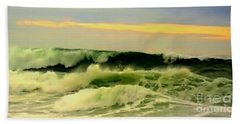 Turbulent Ocean Swell Beach Towel