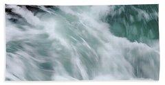 Turbulent Seas Beach Sheet by Donna Blackhall